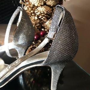 Women Madia Glitter Fabric Sandal Sz 65